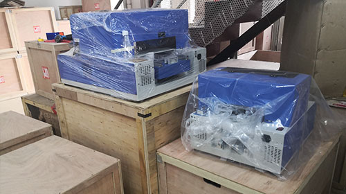 flatbed printer packing and delivery