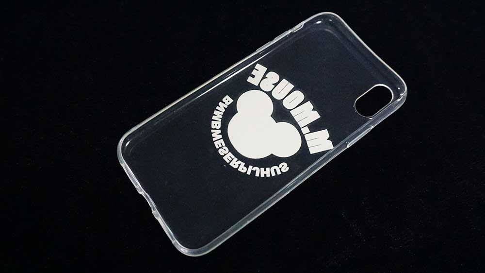 back side of the tpu phone case