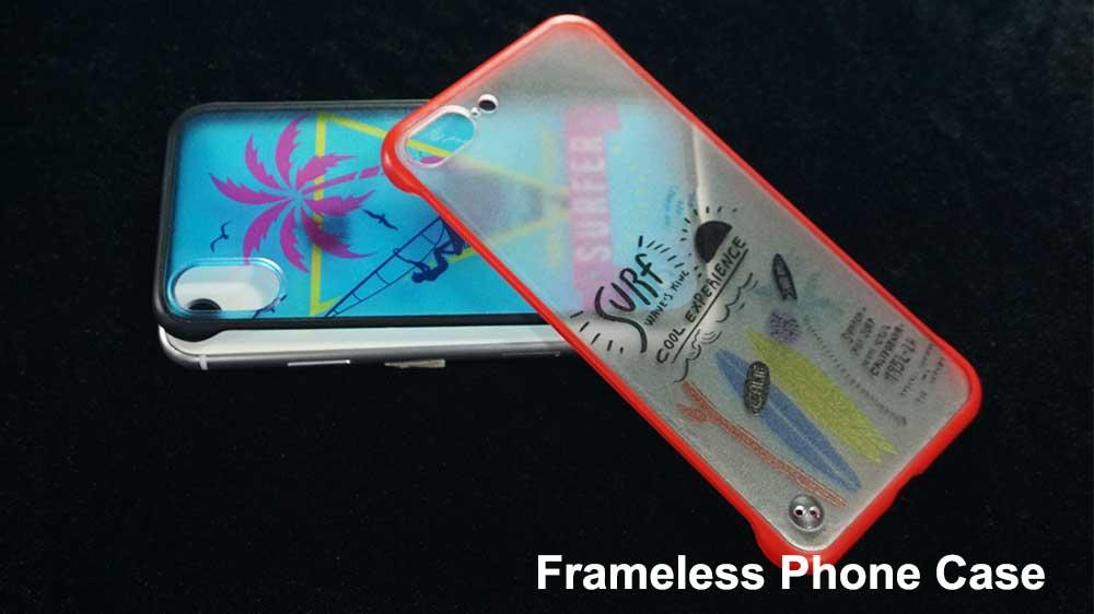 Frameless phone case printer