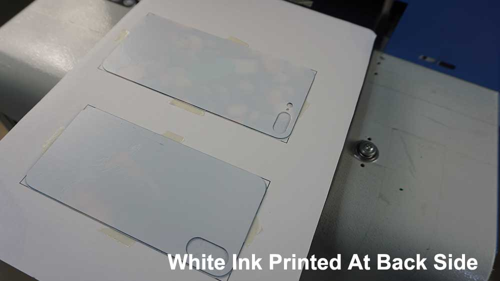 back side of glass phone case printing