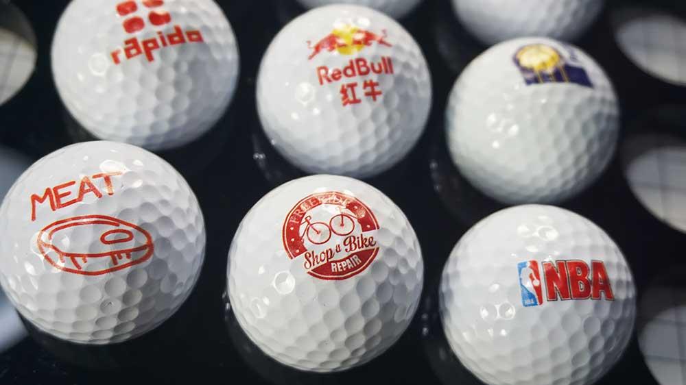 small size golf ball printer
