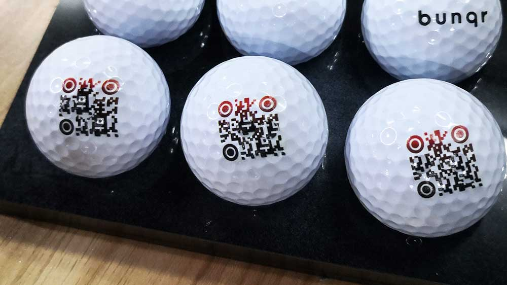 QR Code print on Golf Ball